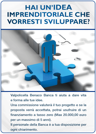 Banner Start Up Valpolicella Benaco Banca