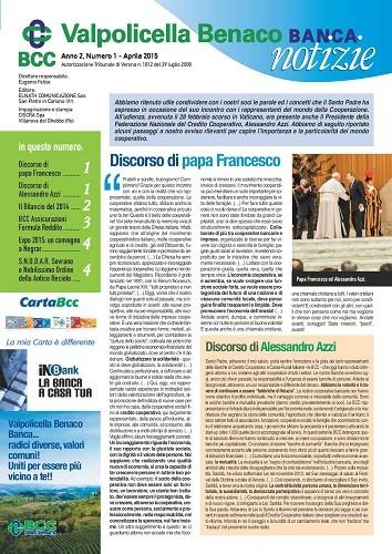 Valpolicella Benaco Banca Notizie Aprile 2015
