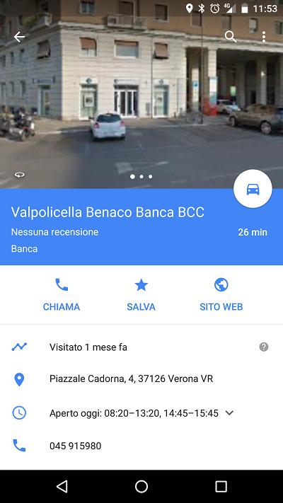 Schermata Google Maps