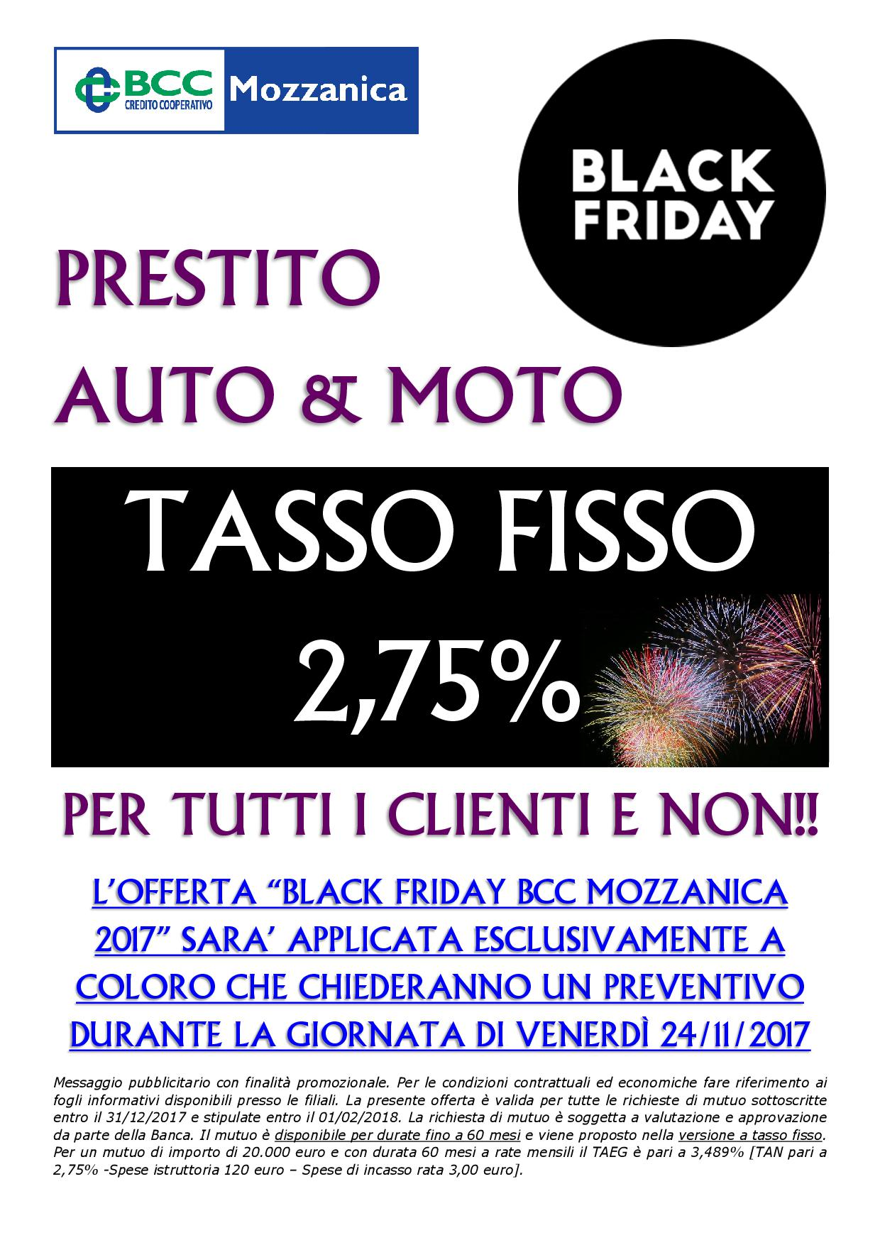 black friday bcc mozzanica 2017