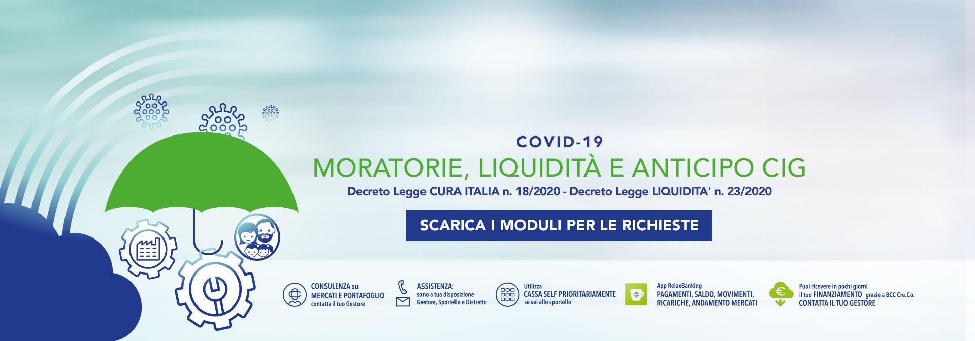 Covid-19 pop up moratorie liquidita cig 4