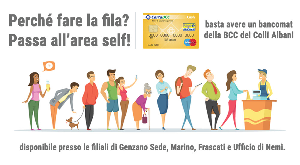 Cassa Self banner interno cellulare