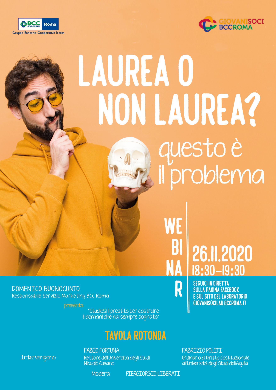 Webinar Laurea o non laurea?
