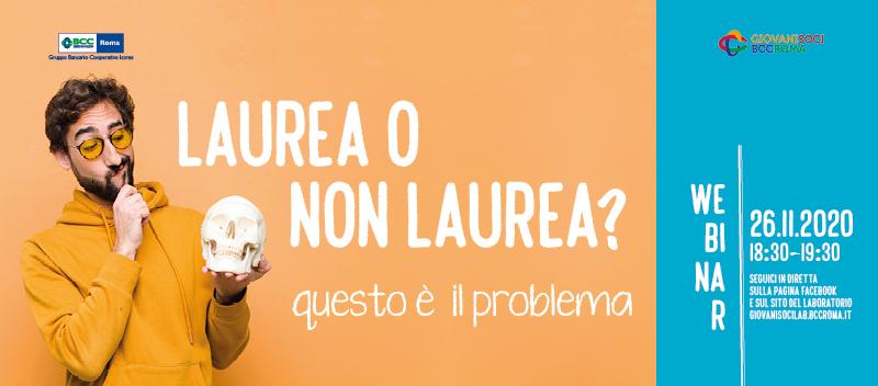 Banner Webinar 26.11.20 Laurea o non laurea respon