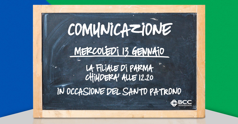 Lavagna per Patrono Parma 2020