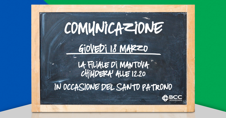 Lavagna per Patrono Mantova 2021