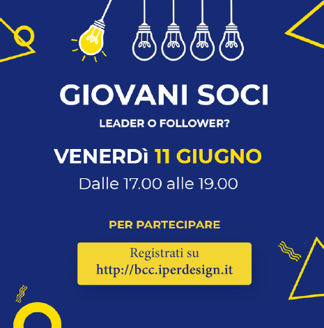 Locandina Giovani Soci - evento 11 giugno 2021