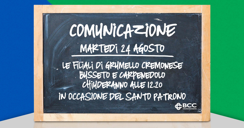 Lavagna x patrono Grumello-Busseto-Carpenedolo