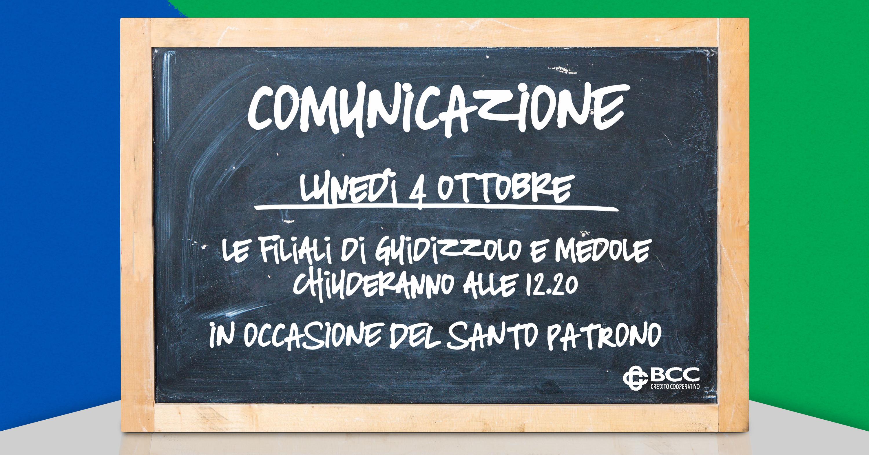 Lavagna x patrono Guidizzolo e Medole 2021