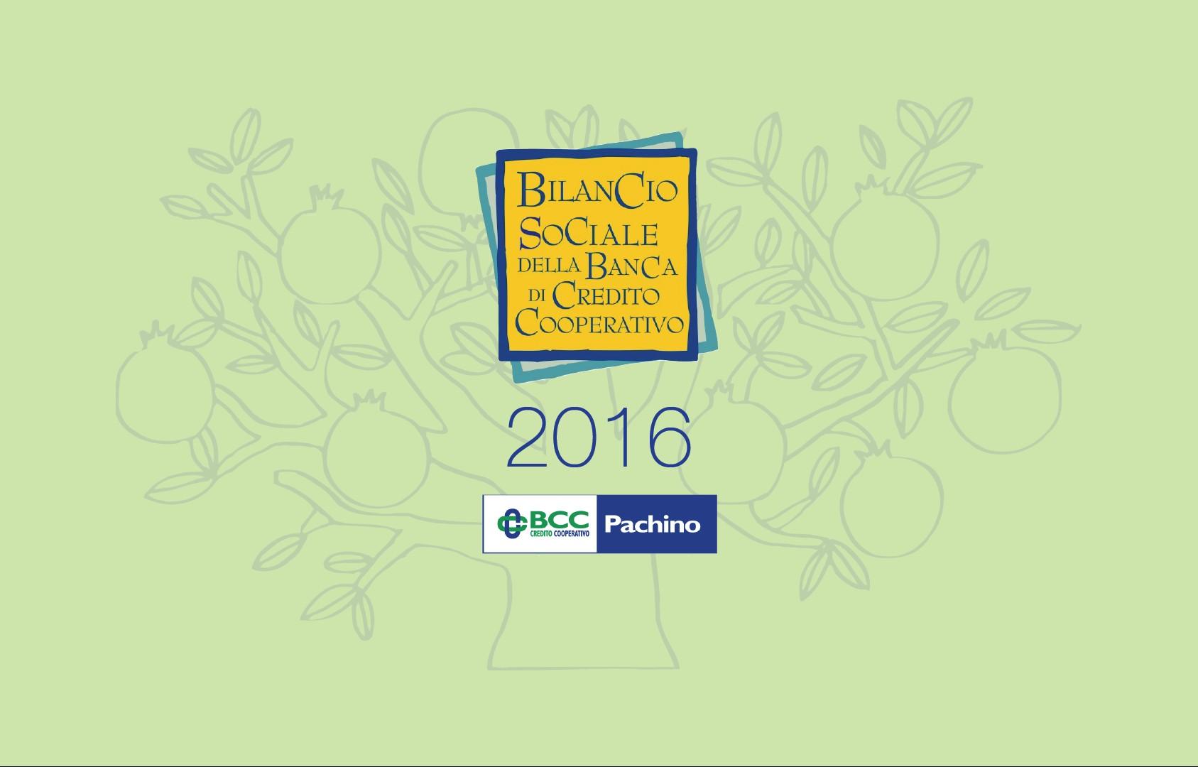 Bilancio Sociale 2016 - Copertina