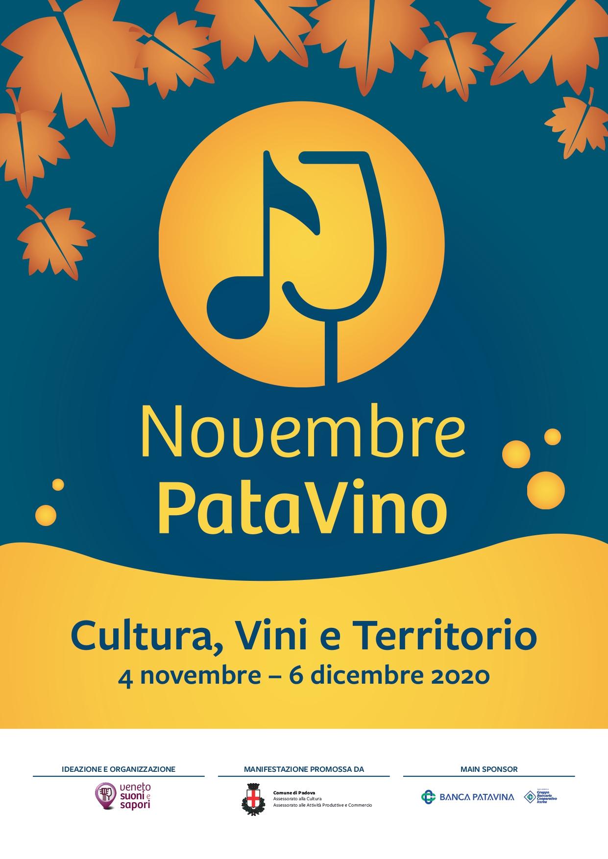 Novembre PataVino locandina