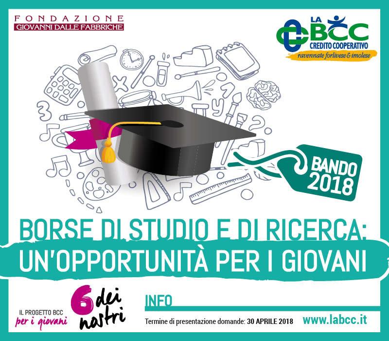borse di studio LA BCC 2018