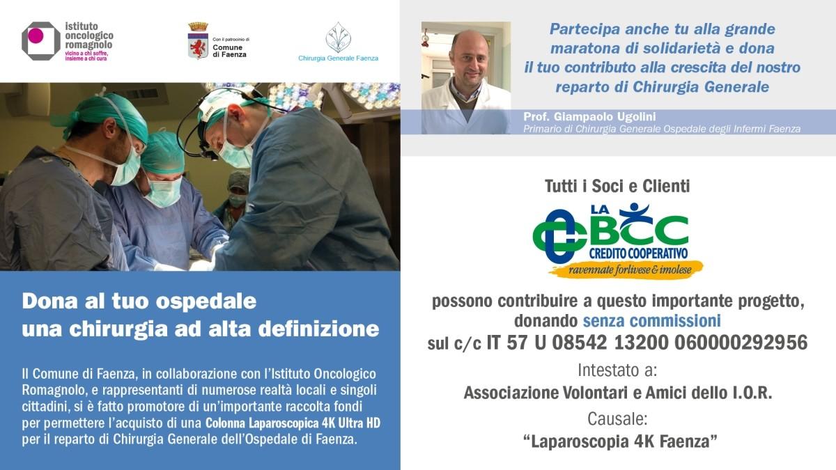 Raccolta fondi laparoscopia Ospedale Faenza