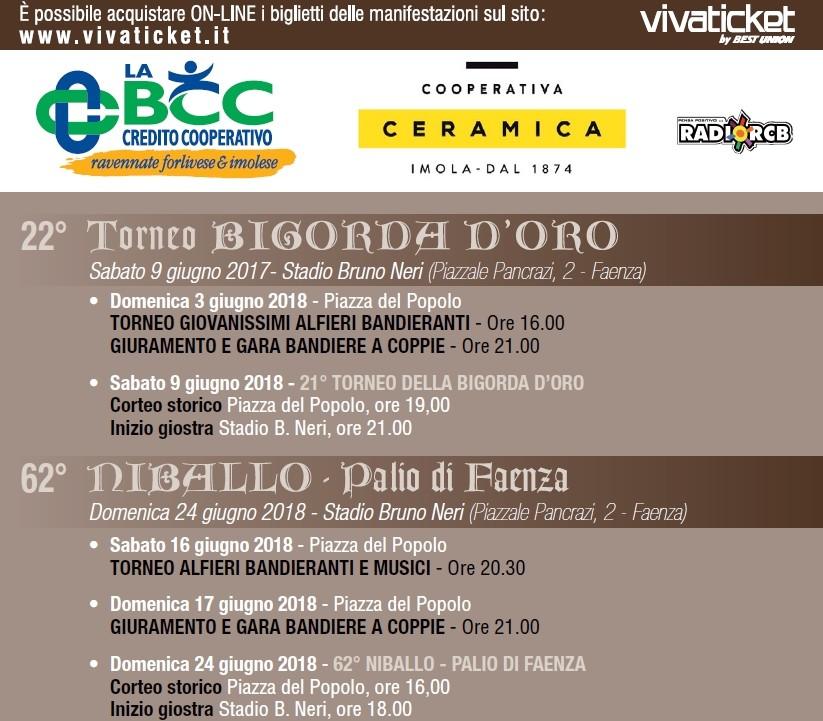 La Bigorda D'Oro e Niballo Palio di Faenza, sponsor LA BCC