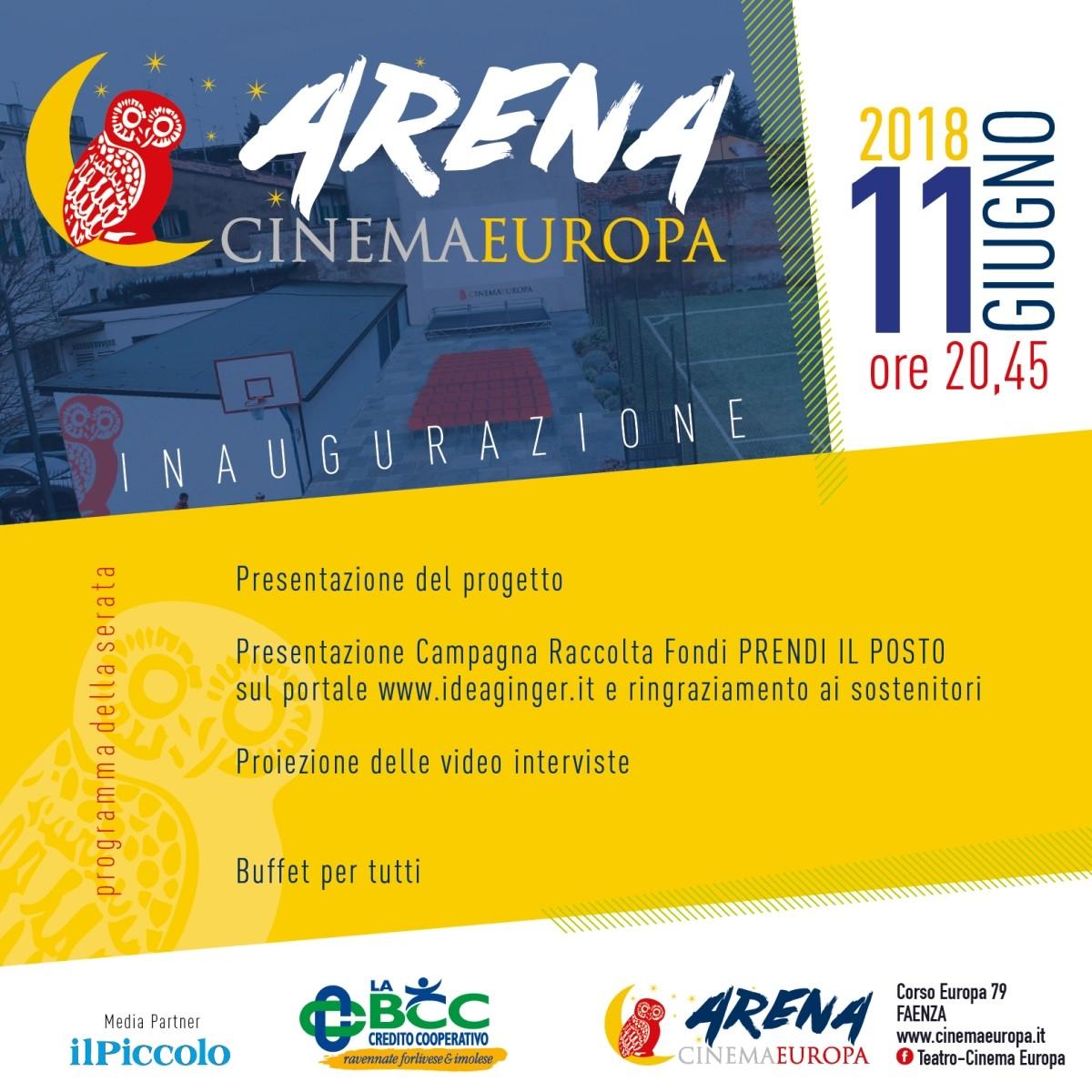 Inaugura l'Arena Cinema Europa a Faenza