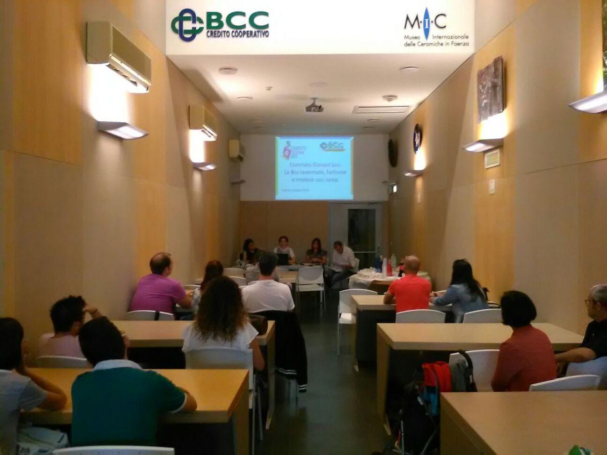 Incontro coi Giovani Soci LA BCC Faenza 09 06 2018