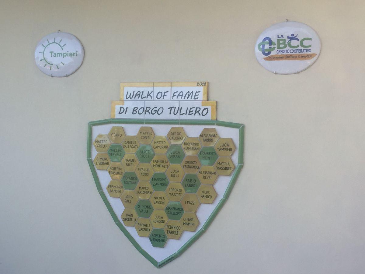 LA BCC nella Walk of Fame di Borgo Tuliero