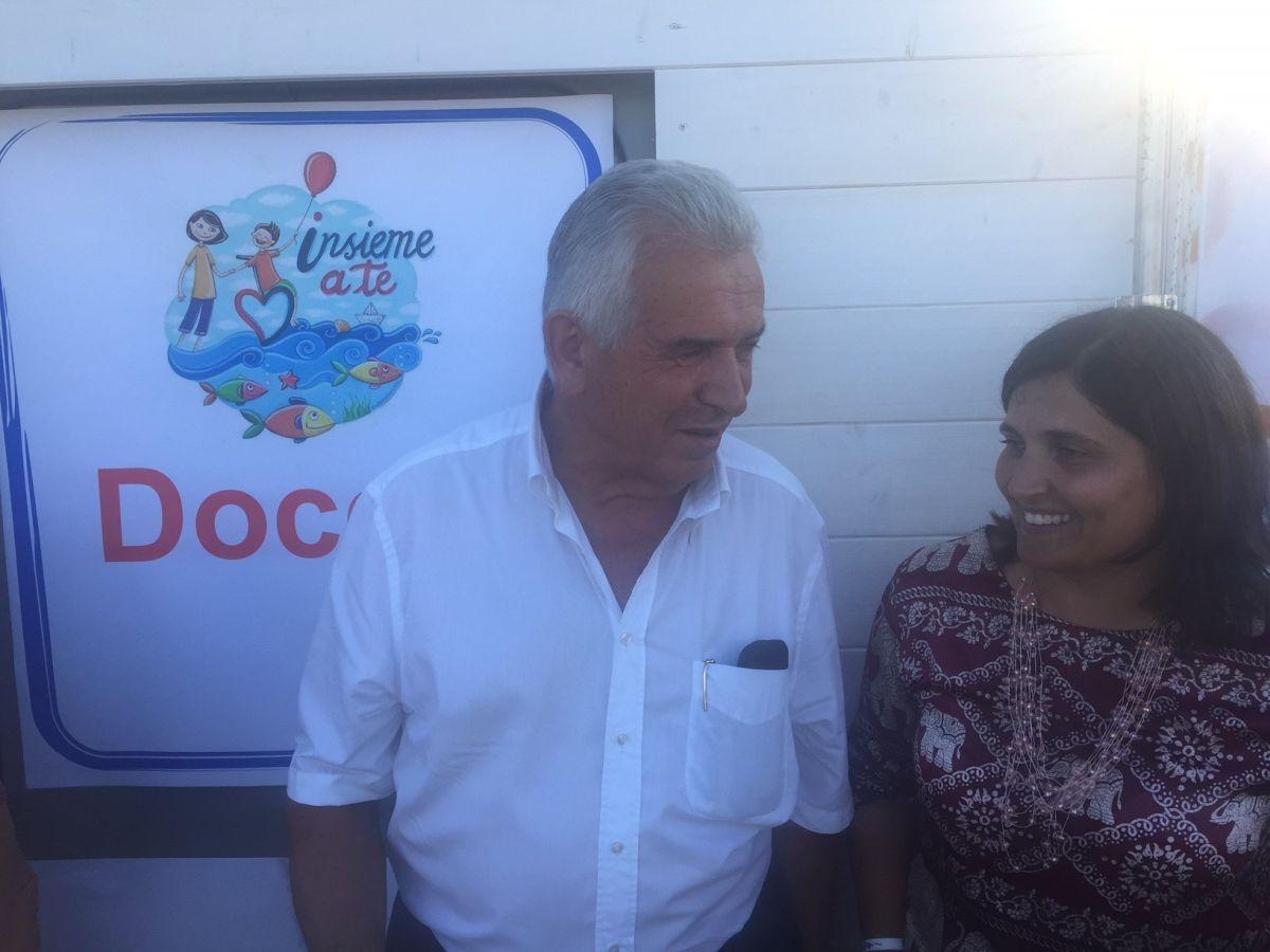Debora Donati con il presidente de LA BCC Secondo Ricci
