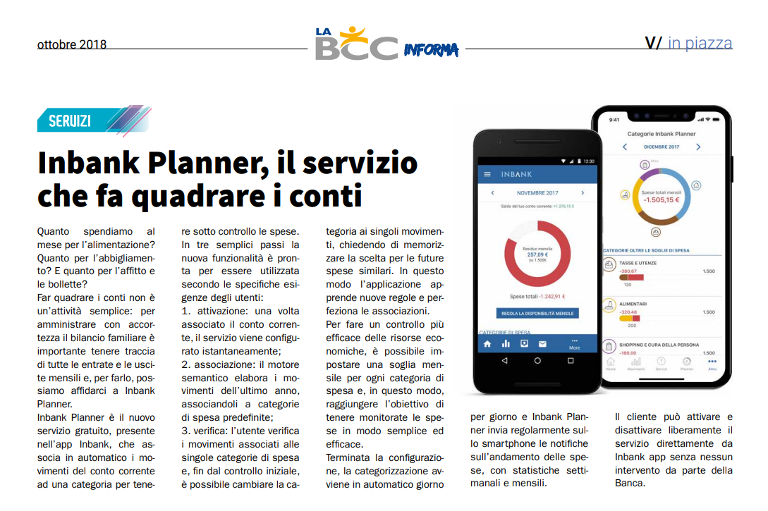 Attiva su Inbank il nuovo servizio Inbank Planner