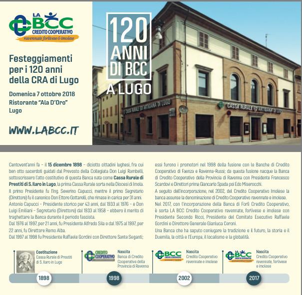 LA BCC a Lugo compie 120 anni