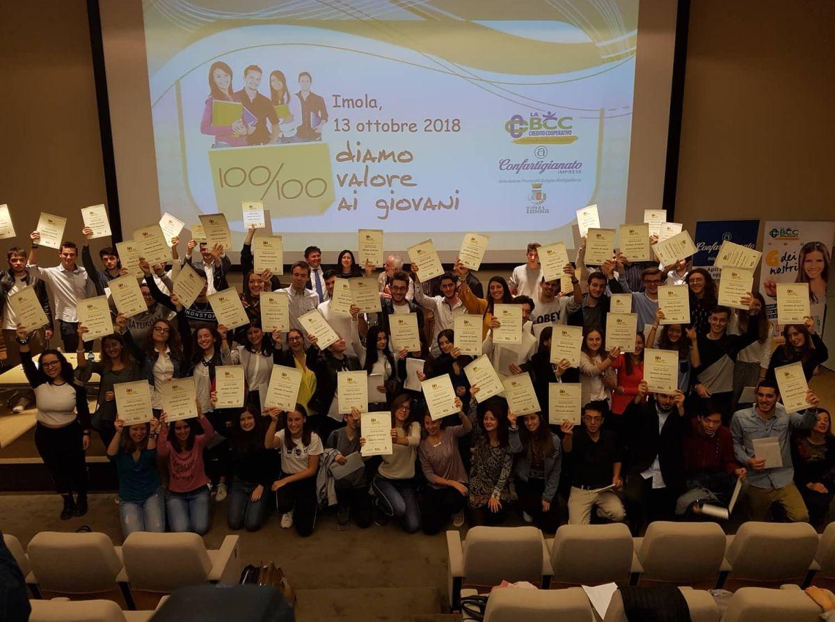 Bravissimi i 58 studenti imolesi diplomati col massimo dei voti e premiati da LA BCC