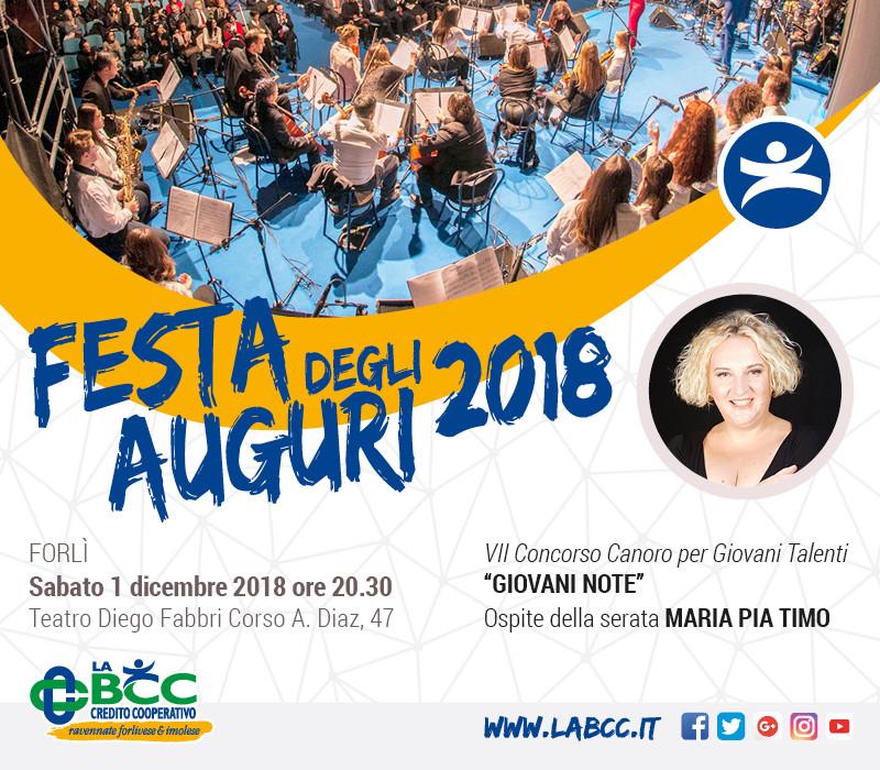 LA BCC invita tutti i Soci: 1 dicembre Forlì Festa degli Auguri