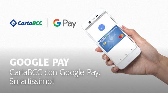 Per i Soci e clienti de LA BCC, paga su Google Pay con la tua Carta BCC abilitata