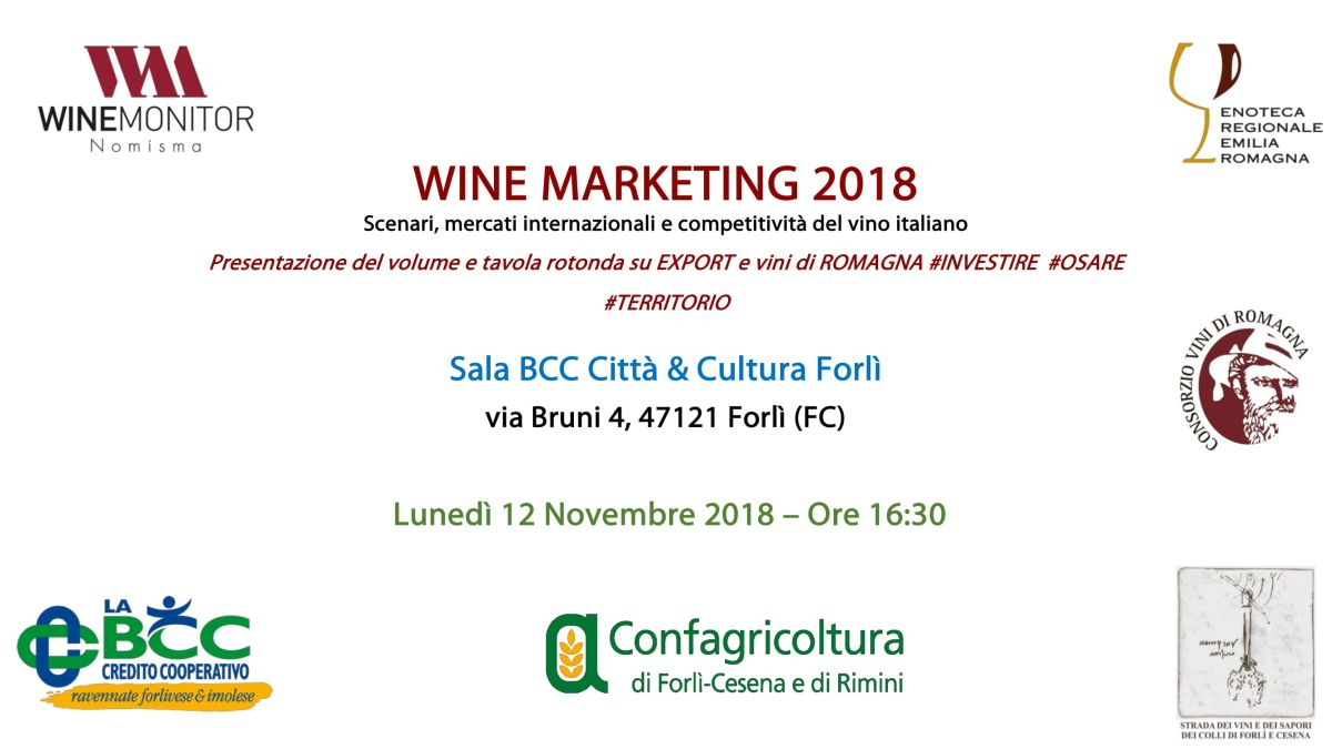 LA BCC al Wine Marketing 2018, 12 novembre Forlì