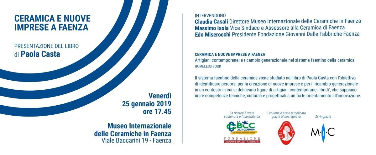 Ceramica e nuove imprese a Faenza, al MIC, sponsor LA BCC