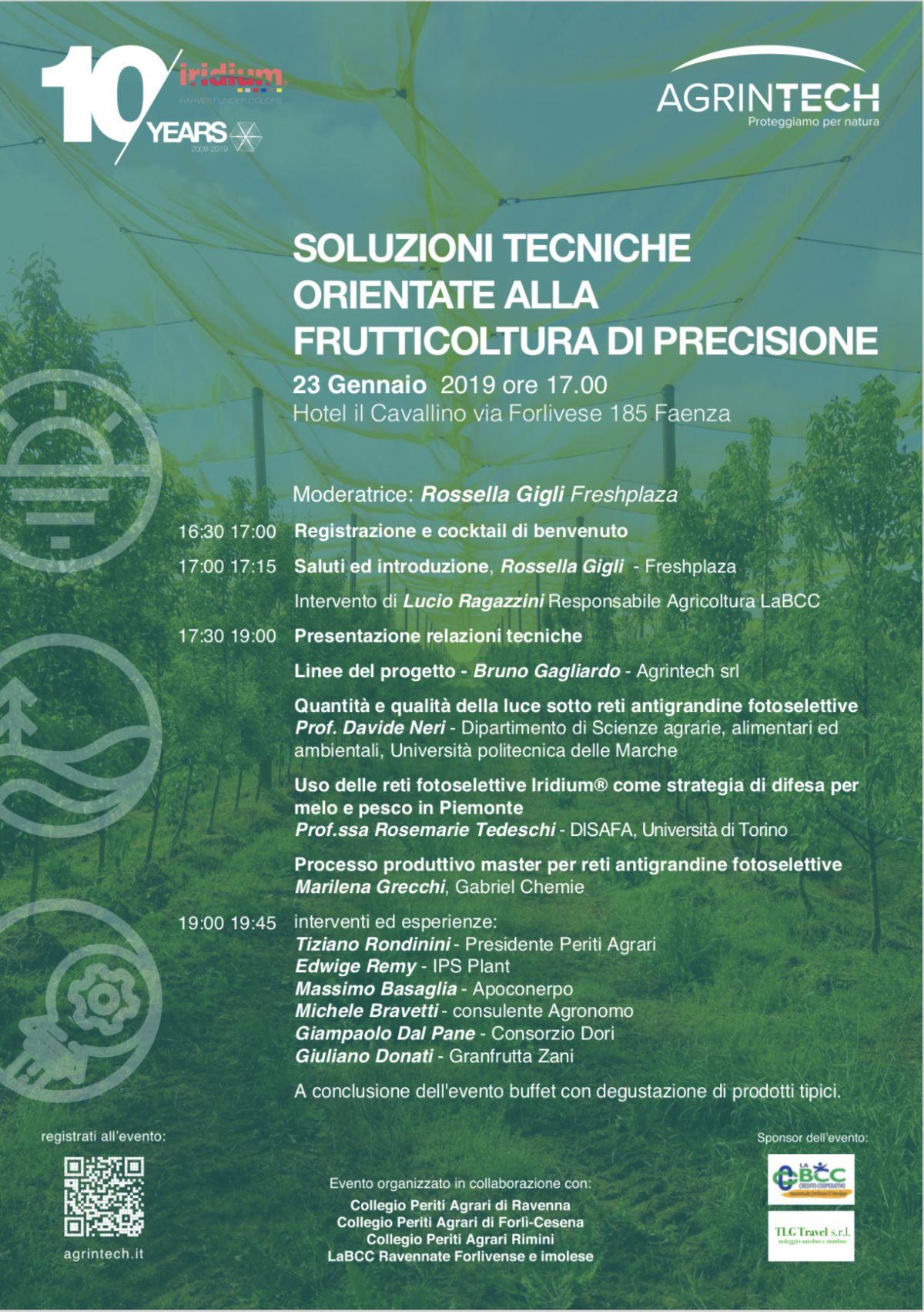 Convegno a Faenza sulla frutticoltura, LA BCC tra i relatori