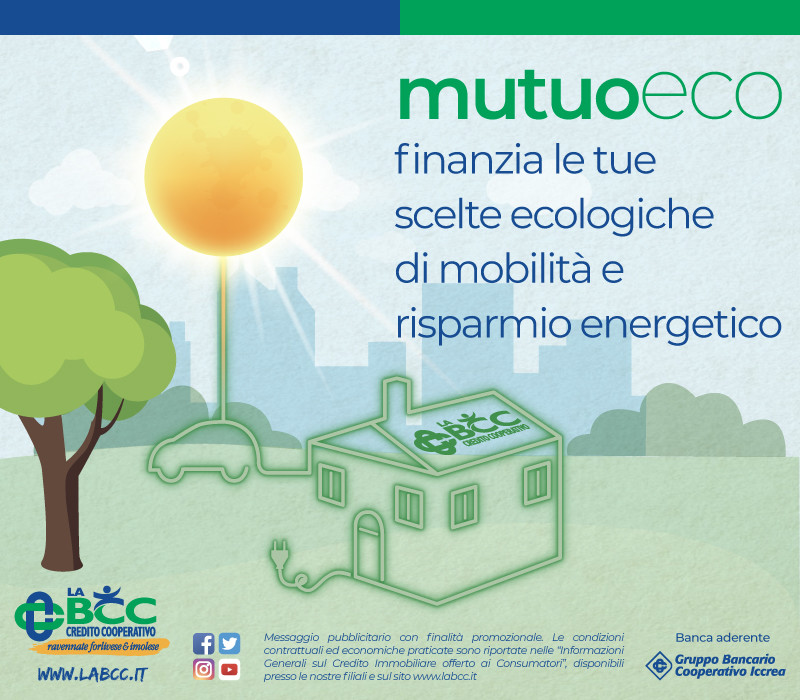 LA BCC finanzia le tue scelte ecologiche