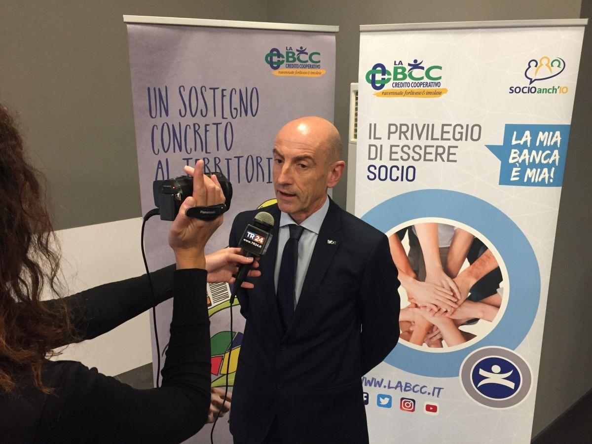 Gianluca Ceroni su Teleromagna. Il sostegno de LA BCC al turismo nei territori