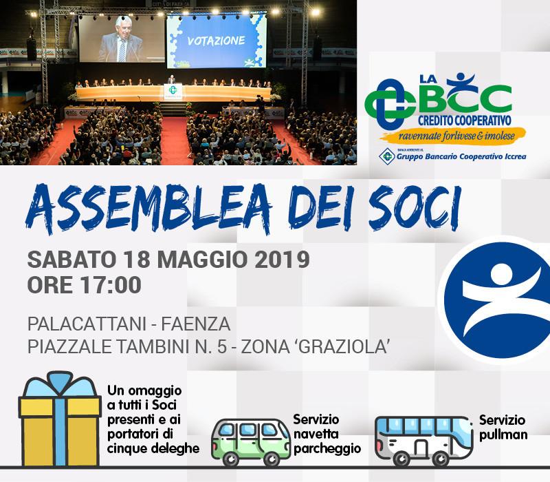 18 maggio 2019 Faenza Assemblea dei Soci de LA BCC