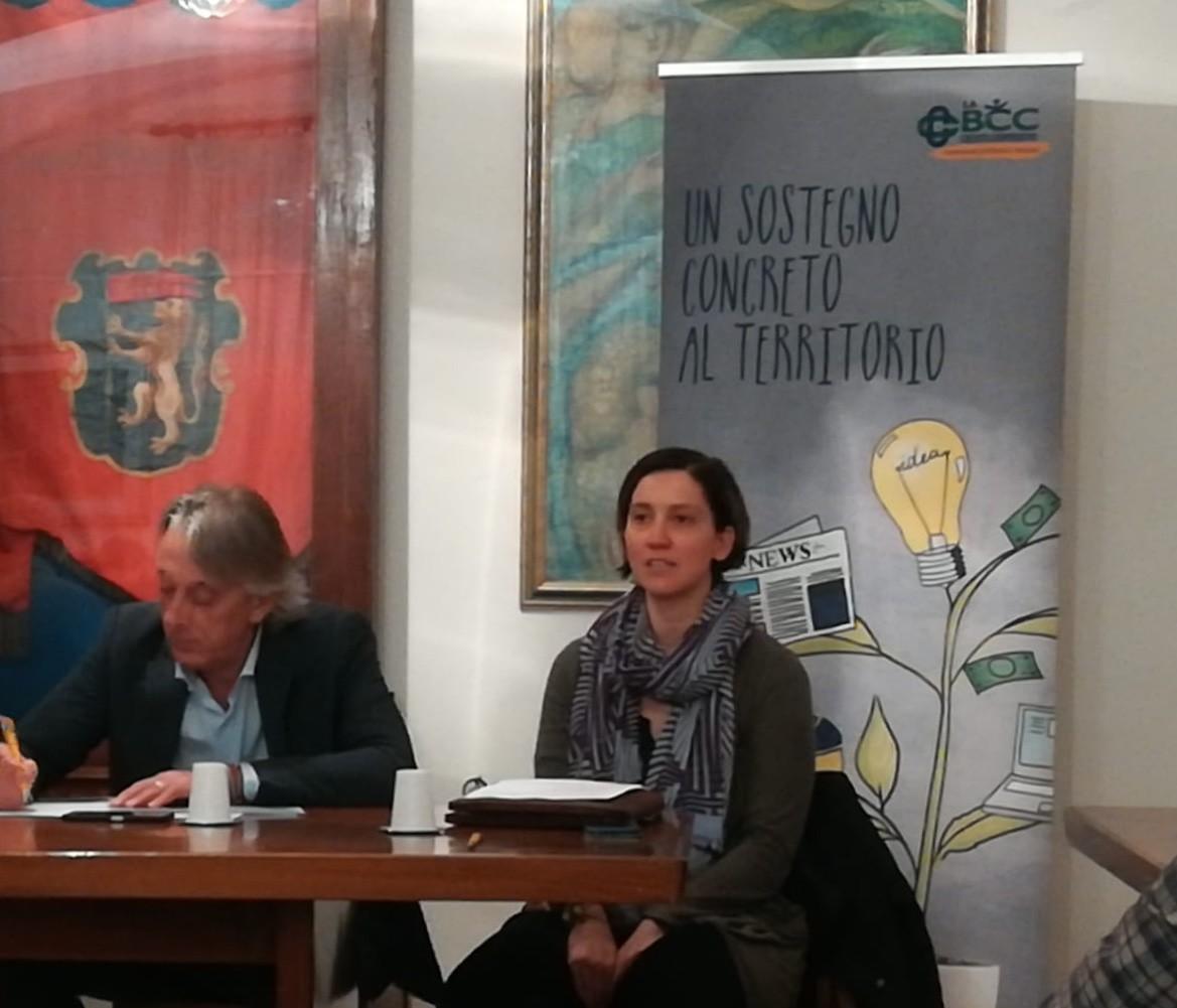 Livia Bertocchi de LA BCC al convegno a Tredozio