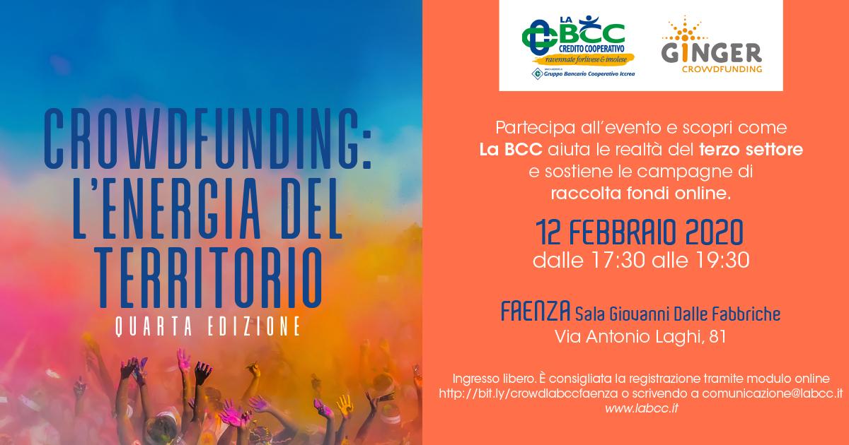 LA BCC a favore del terzo settore con il crowdfunding