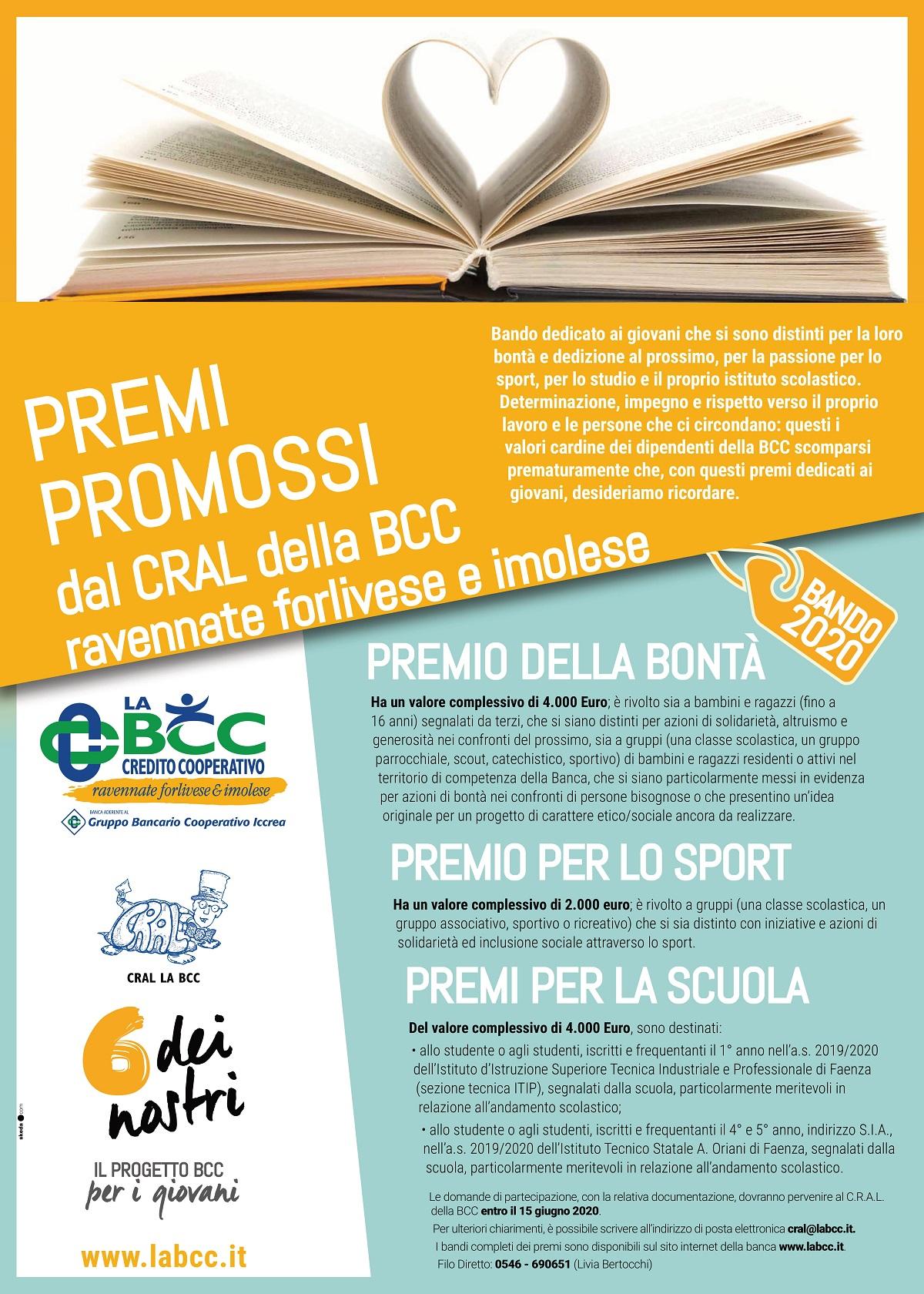 Iscriviti al bando dei premi del Cral de LA BCC entro la nuova scadenza del 15 giugno