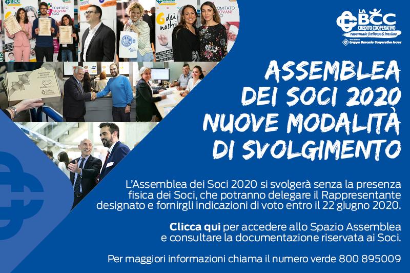 Le nuove modalità di svolgimento dell'Assemblea dei Soci 2020