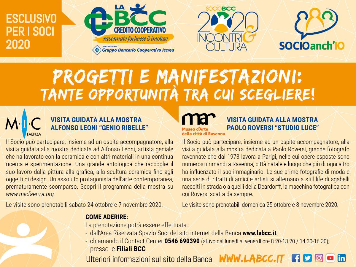 Ulteriori opportunità all'interno delle Manifestazioni Sociali per i Soci de LA BCC