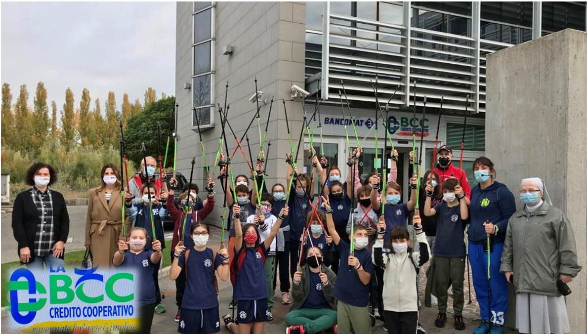 LA BCC a Lugo sponsorizza il nordic walking per bambini e ragazzi