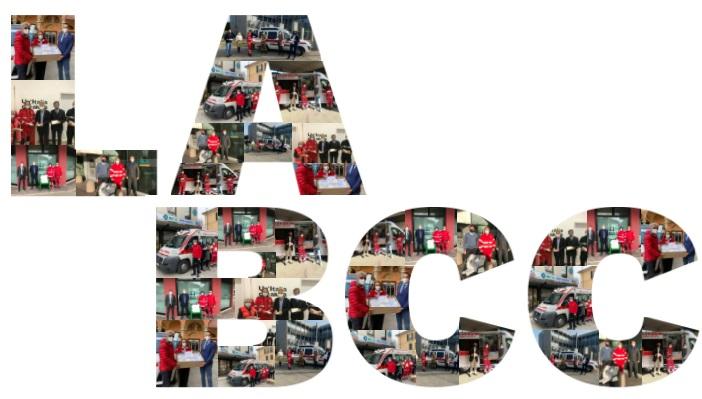 collage donazione del cral e de la bcc croce rossa