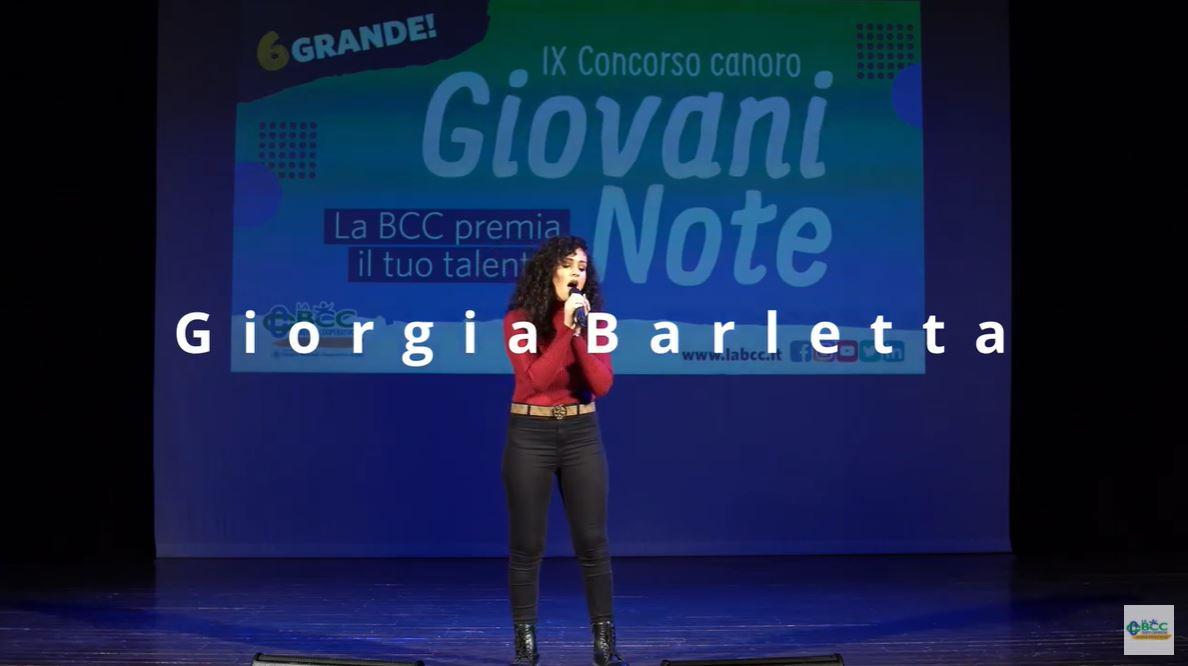 Giorgia Barletta, Associazione T'Incanto Lugo, vincitrice Giovani Note 2020