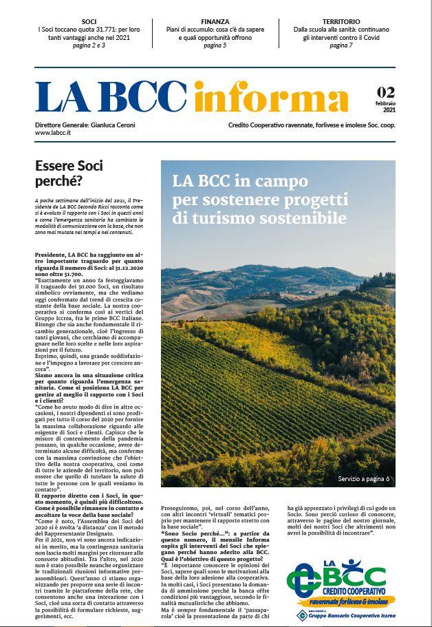 informa copertina febbraio 2021 LA BCC