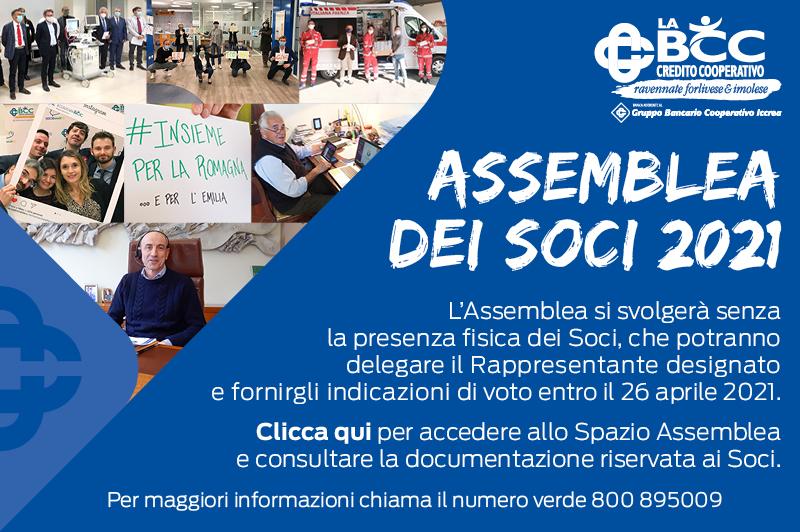 Tutte le info sull'assemblea dei Soci 2021