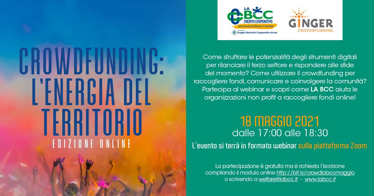 Crowdfunding L 'energia del territorio 18 maggio