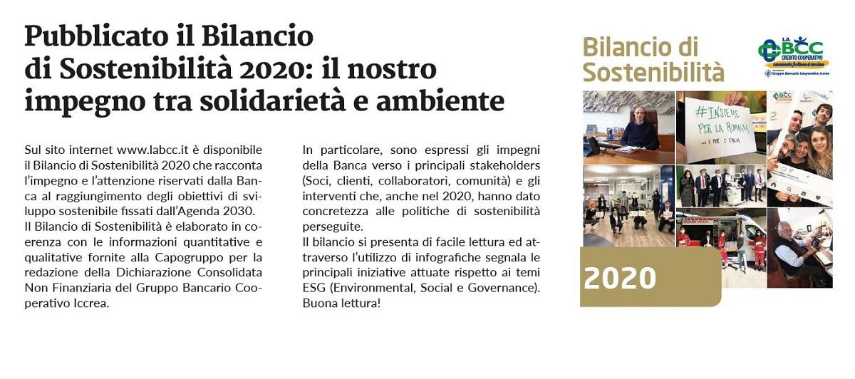 LA BCC bilancio di sostenibilita 2020