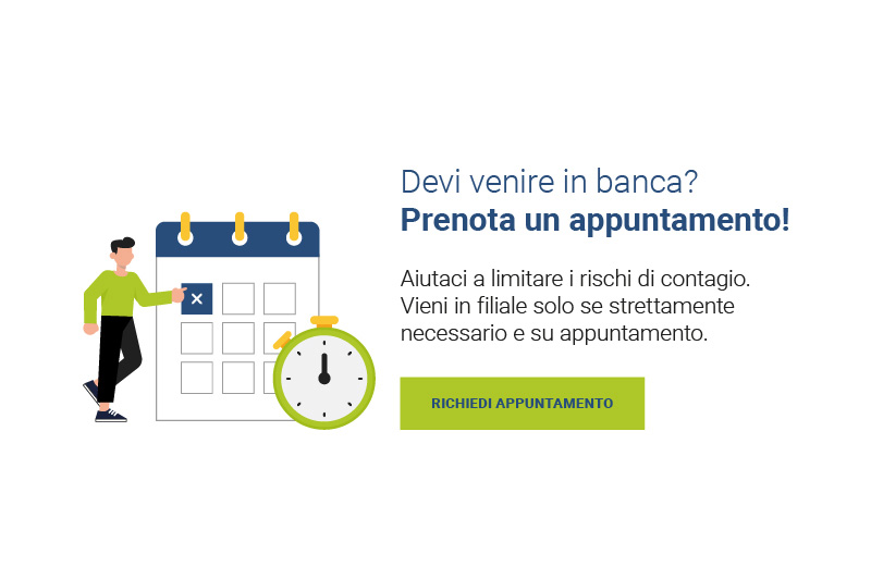 Prenota appuntamento in filiale