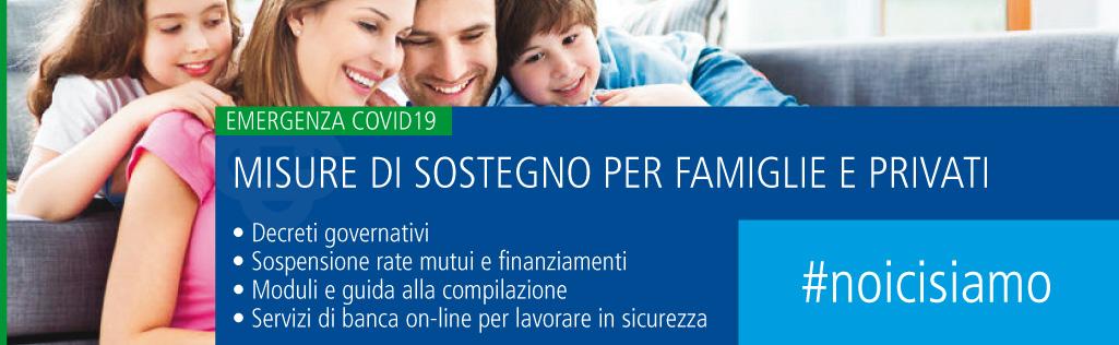 misure e sostegno famiglie e privati