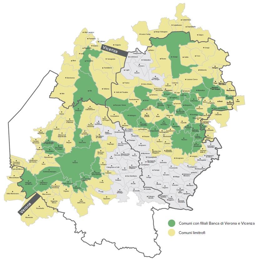 Mappa Banca di Verona e Vicenza