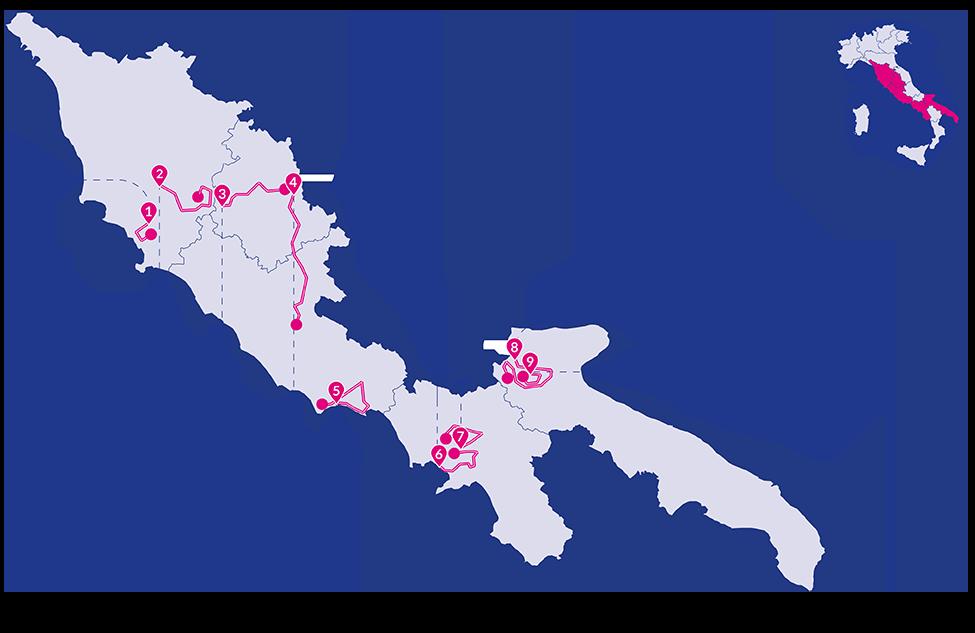 Mappa Giro Rosa 2020