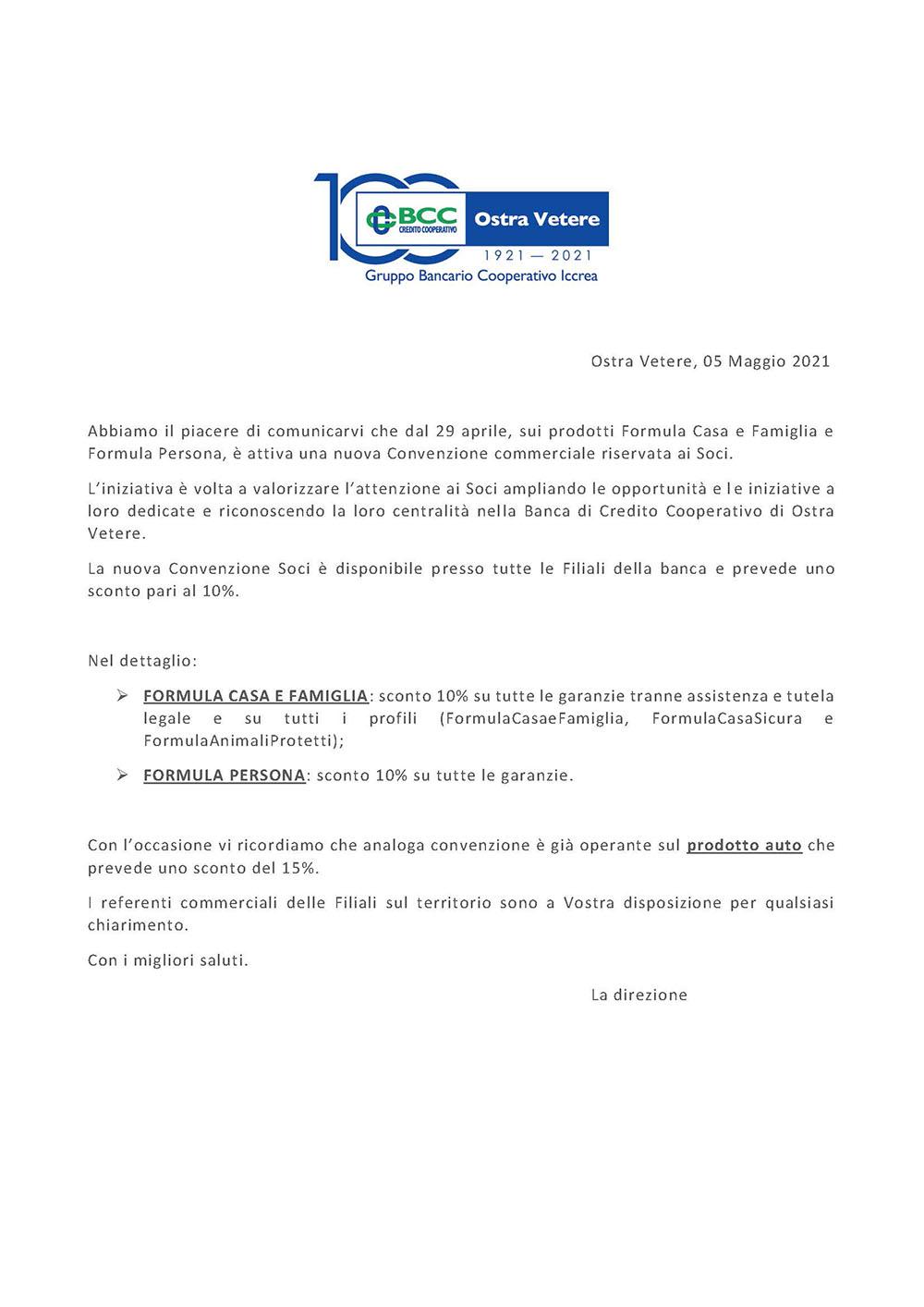 iNIZIATIVA COMMERCIALE PER I SOCI